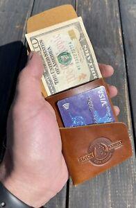 leather minimalist wallet handmade