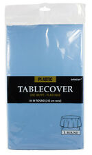 Amscan Plastic Table Cover Round Powder Blue