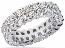 4.02 ct Round Diamond Ring 18k Gold Eternity Band F Vs Size 5.5 0.10 ct each