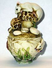 Neil Eyre Designs Mouse mice frog pond morel mushroom butterfly dragonfly box