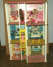 Vintage 1970's Barbie 3 Story Town House With Working Elevator, Dolls, Nice