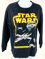 Star Wars Youth Large Long Sleeve T-Shirt X Wing Fighter Digital Graphic Vintage