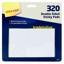 320 per pack Double  Sided Sticky Pads  Mounting Adhesive Foam  Craft Tabs UK