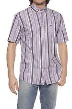 Gestreifte Herren-Freizeithemden mit Button-Down-Kragen