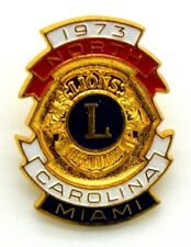 Pin Spilla Lions International 1973 North Carolina Miami cm 2,2 x 2,9