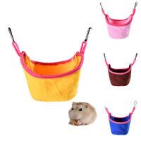 Pet Hamster Flannel Rat Squirrel Hammock Hanging Cage Nest Bed House Toys Fine