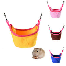 CW_ KQ_ Pet Hamster Flannel Rat Squirrel Hammock Hanging Cage Nest Bed House Toy