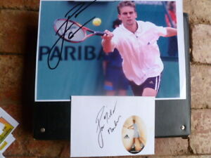 JAN MICHAEL GAMBILL HAND SIGNED  A4  PICTURE & ENVELOPE WITH ADIDAS STICKER