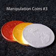 3 Manipulation Coins US Half Dollar Size For Coin Transformation etc Magic Trick