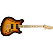 Squier by Fender Affinity Series Starcaster Guitar, Maple Board, 3-Color Burst