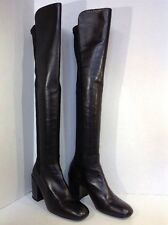Stuart Weitzman Women's Size 7 Reserve Black Leather Over the Knee Boots ZK-1025