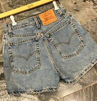 "Vintage LEVIS 512 Slim Fit High Waist Denim Blue Short-Shorts Jr Size 9 - W27"""