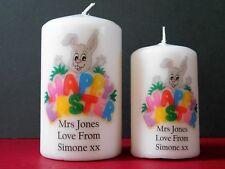 Personalised Happy Easter Candle Wife Girlfriend Husband Boyfriend Friend Gift