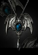 Restyle COLLANA + SPILLA della morte vampiri Wings Bat NECKLACE + PIN Gothic