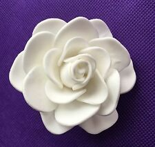 FOAM Gardenia Rose Hair CLIP WHITE Weddng Bridal Hawaiian Prom Party