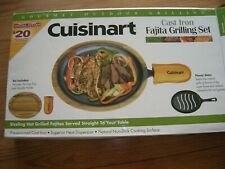 New listing New Cuisinart Cast Iron Fajita Grilling Skillet Set Cfs-219