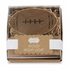 New Nib Mud Pie Football Wood Wooden Night Light for Baby Nursery or Child