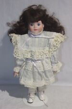 "Collectors Choice Porcelain Doll White Dress 15"" ( Dnt H-2) #4"