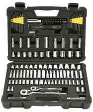 "123-Piece Socket Ratchet Tools Stanley and Set Metric 1/4"" 3/8"" Drive Craftsman"