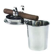 Stinky Stainless Steel Portable Car Auto Ashtray with Cigar Clip & Airtight Lid