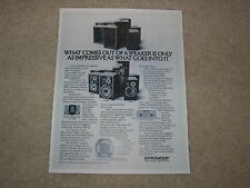 Pioneer HPM-150, HPM-100, 60, 40 Speaker Ad, 1978, 1 page, Articles, Info