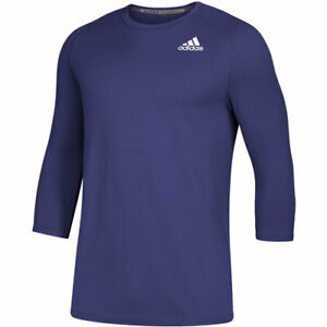 New Men's Adidas Fielders Choice 2.0 3/4 Sleeve Baseball BP Top Purple XL $50
