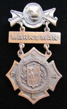 Antique REMINGTON ARMS UNION METALLIC CARTRIDGE Co MARKSMAN Pin Medallion D&C NY
