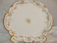 Antique Theodore Haviland LIMOGES France MORNING GLORY SQUARE Handled CAKE Plate
