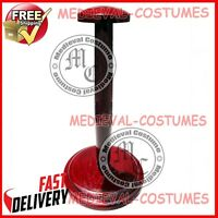 Wooden Helmet Stand Display Stand for Medieval Helmets Foldable Red Stand