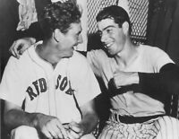 Joe DiMaggio New Yor Yankees Ted Williams Boston Red Sox UNSIGNED 8x10 Photo