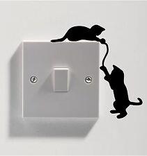 3 x chats pour Interrupteur De Lumière Autocollant Vinyle Decal Art Mur de toute pièce Chaton Mignon Purr