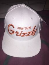 Grizzly Griptape Starter Script Logo Hat 7 1/2 With Tag White Orange Natural