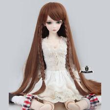 """7-8"""" 1/4 BJD Wig MSD Wig Hair Dollfie EID Luts DOD AOD SOOM Brown Braid WIG #111"""
