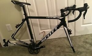 2015 Scott Addict CX RC Carbon Cyclocross Frame and fork and brakes. 56 cm