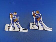 HOCKEY PLAYERS TIN METAL TABLE TOP GAME MEN LOT OF 2 TORONTO CANADA BLUE JERSEY