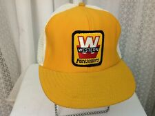 Vintage Western Pacesetters Trucker Hat Cap Snapback Mesh Made In The USA