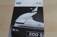 140613) Nissan 200 SX - technische Daten & Ausstattungen - Prospekt 02/1992