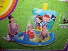 CLEARWATER PIRATE SHIP PLAY CENTER CHILD'S WATER SPRAYING INFLATABLE POOL NEW!