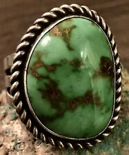 Lake Turquoise Ring 21+G Size 11.5 Perry Shorty Navajo Sterling Gem Grade Carico