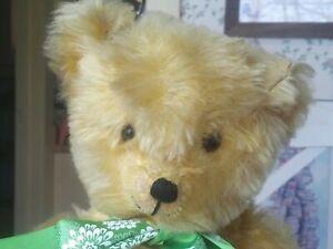 Antique Vintage 1940s/1950s mohair American Knickerbocker Teddy Bear 17in GUC