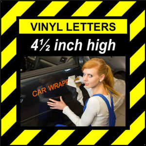 5 Characters 4.5 inch 114mm high pre-spaced stick on vinyl letters & numbers
