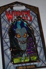 DISNEY WINDOWS OF EVIL HADES PIN NEW ON CARD LE 2000