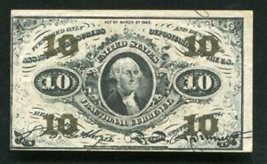 FR. 1255 10 TEN CENTS THIRD ISSUE FRACTIONAL CURRENCY NOTE EXTREMELY FINE