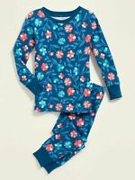 NWT GIRLS OLD NAVY PAJAMAS PJS SIZE 5T - 2 PIECE SET FLORAL size 12 18 MONTHS