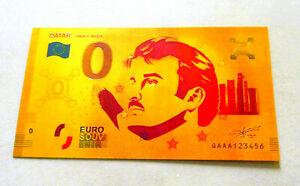 "★★ BILLET POLYMER  "" OR "" COULEURS DU 0 EURO QATAR ★★ R1"