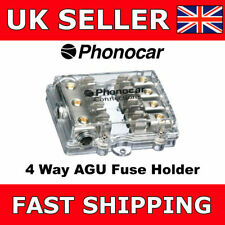 Phonocar 4/489 4-Way AGU Fuse Holder 4AWG Input 8AWG Output Good Quality NEW