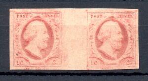 NETHERLANDS 1895 MOESMAN-HORZ. BRUG PAAR -POS 10-31 -- CERT.