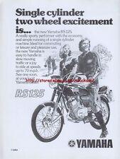 Yamaha RS125 Motorcycle 1975 Magazine Advert #3684