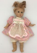 Berenguer Baby Girl Plastic with Cloth Body Blue Eyes Vintage Jc Toys 14""