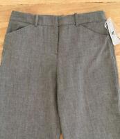 Worthington Womens Modern Fit Trouser Leg Career Pants Black Gray Woven Size 6